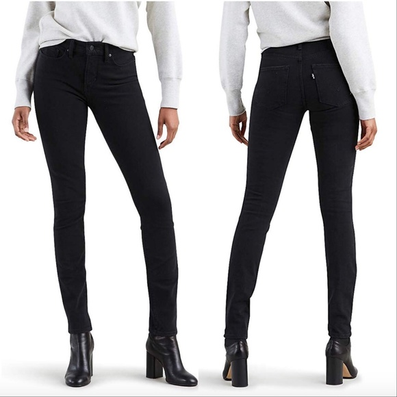 Levi's Denim - Levis 721 High Rise Skinny To The Nine Black Jeans
